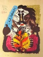 パブロ・ピカソ「想像の中の肖像」版画1969年