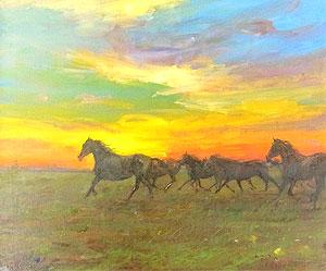 中畑艸人「黎明」油彩