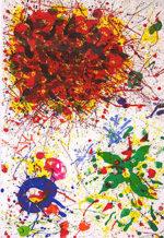 サム・フランシス「Untitled SF-319」版画114.2×70.6cm