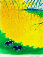 アンドレ・ブラジリエ「枝の下」版画80×60cm