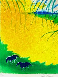 アンドレ・ブラジリエ「枝の下」版画