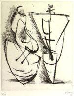 ヘンリー・ムーア「Two Standing Figures」銅版画20×17cm