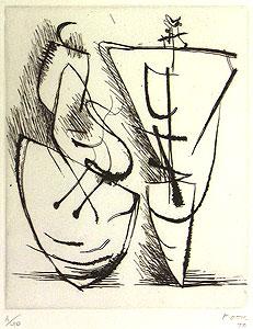 ヘンリー・ムーア「Two Standing Figures」銅版画