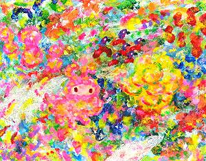 ロッカクアヤコ「無題」アクリル2017年