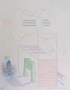 デイヴィッド・ホックニー「ギターのうなり」銅版画