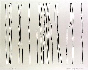李禹煥「FROM LINE Pl.3」銅版画
