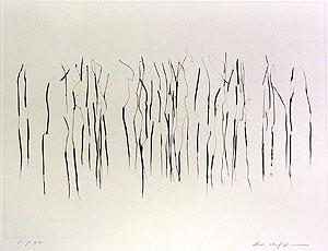 李禹煥「FROM LINE Pl.5」銅版画