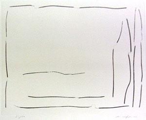 李禹煥「FROM LINE Pl.8」銅版画