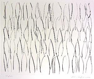 李禹煥「FROM LINE Pl.12」銅版画