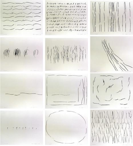 李禹煥「FROM LINE」銅版画