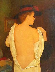 ギイ・セラドール「L'essayage」油彩