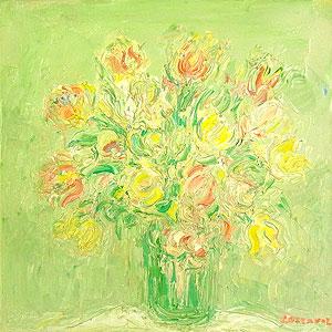 アンドレ・コタボ「優しい光の花束」油彩