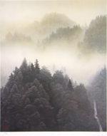 東山魁夷「晴れゆく朝霧(新復刻画)」版画60.8×49cm