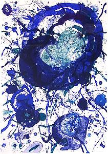 サム・フランシス「天空の詩 Pl.1」版画