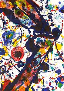 サム・フランシス「天空の詩 Pl.2」版画