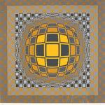 ヴィクトル・ヴァザルリ「ZENG」版画66×65.5cm