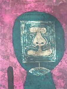 ルフィーノ・タマヨ「緑の頭」版画