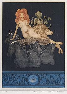 山下清澄「イタリアの幻想」銅版画