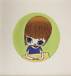 奈良美智「Mellow Girl」木版画