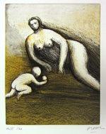 ヘンリー・ムーア「母と子よりPL.6」銅版画23.8×18.8cm