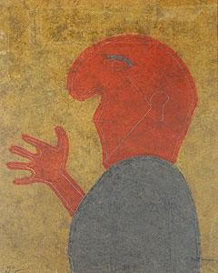 ルフィーノ・タマヨ「横向きの人物」銅版画