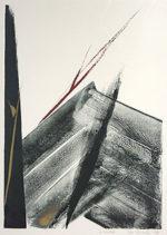 篠田桃紅「A CLIMAX」手彩色版画57.3×42cm