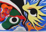 岡本太郎「双子座」版画40×56.8cm