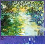 トレンツ・リャド「静かなる水面(マジョルカ)」版画71×71cm