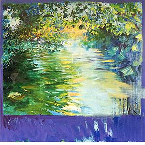 トレンツ・リャド「静かなる水面(マジョルカ)」版画