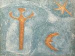ルフィーノ・タマヨ「人・月・星」銅版画56.3×75.4cm