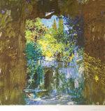 トレンツ・リャド「デステの回廊」版画71.5×71.2cm