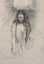 オディロン・ルドン「ブッタになった」版画31.5×21.5cm