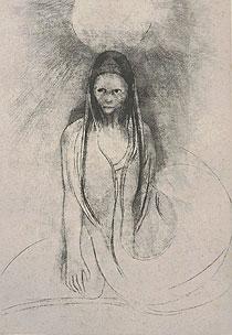 オディロン・ルドン「ブッタになった」版画