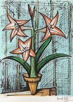 ビュッフェ「アマリリス」版画66×49.5cm