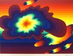 靉嘔「Clouds:雲」版画50×70cm