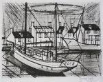 ビュッフェ「エランの船」銅版画49.5×64.5cm