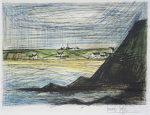ビュッフェ「エルキ付近」銅版画49×64cm