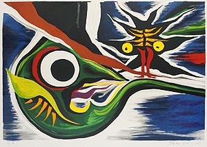 岡本太郎「未来を見た」版画
