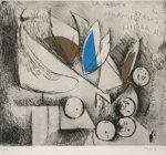 マリノ・マリーニ「天使の墜落」銅版画30×40cm