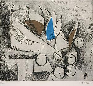 マリノ・マリーニ「天使の墜落」銅版画