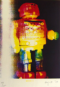 靉嘔「虹のロボット」版画