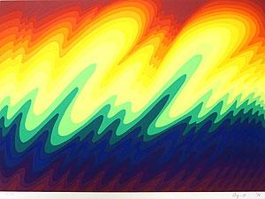 靉嘔「Waves:波」版画