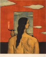 有元利夫「ヰタ・セクスアリス」銅版画17.5×14.7cm
