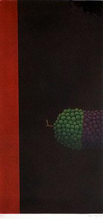 浜口陽三「ぶどうの房」銅版画1969年
