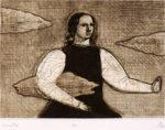 有元利夫「Gavotte:7つの音楽」銅版画9.8×13.7cm