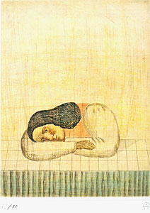 有元利夫「ヴィヴァルディ『四季』より『冬』」銅版画