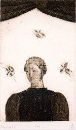 有元利夫「Menuett:7つの音楽」銅版画14.6×9.1cm
