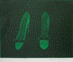 草間彌生「靴(緑)」版画31.2×40.7cm