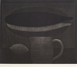 浜口陽三「したびらめ」銅版画