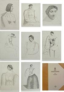 有元利夫「8pieces d'ARLEQUINES」銅版画
